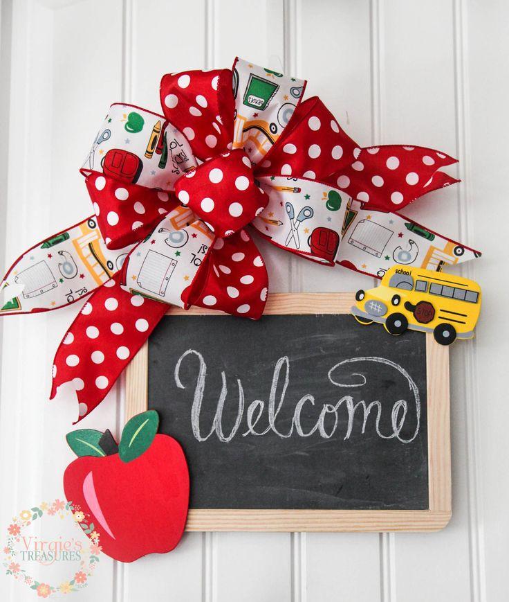 Teacher Classroom Chalkboard Sign, Door Sign Slate Chalkboard, Welcome Classroom Chalkboard, Teacher Gift, Teacher Appreciation Gift by VirgiesTreasures on Etsy