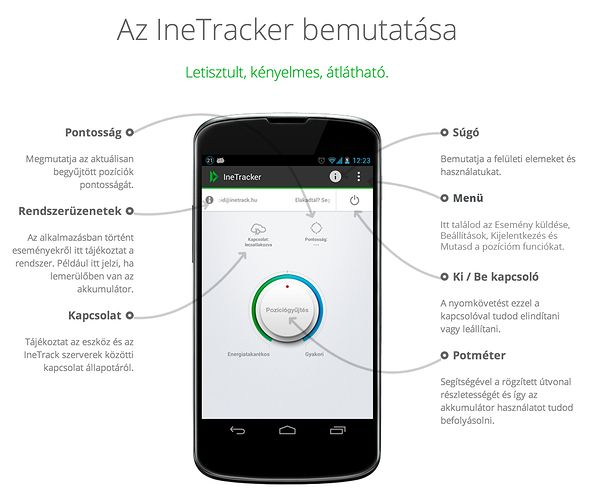 IneTracker alkalmazás - IneTracker és IneTrack Mobile #inetrack #nyomkovetes #gps #app #mobil #telefon #android #nyomkoveto