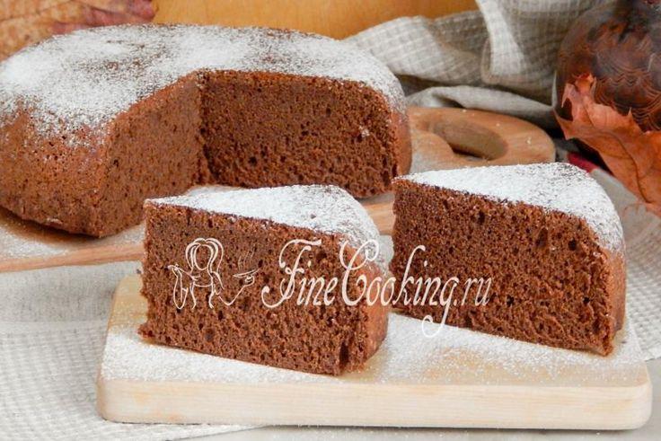 Шоколадный бисквит в мультиварке - рецепт с фото