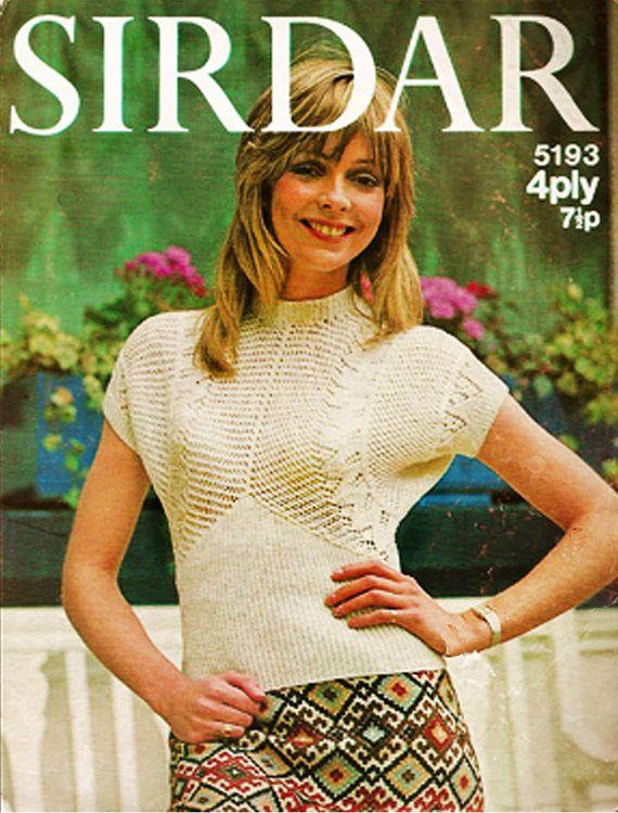 PDF Vintage 1970s Womens Ladies Knitting Pattern Sirdar 5193