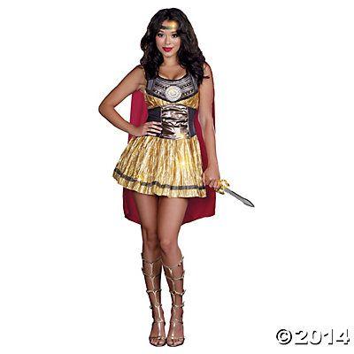 Golden Gladiator Exta Large Adult Women's Costume