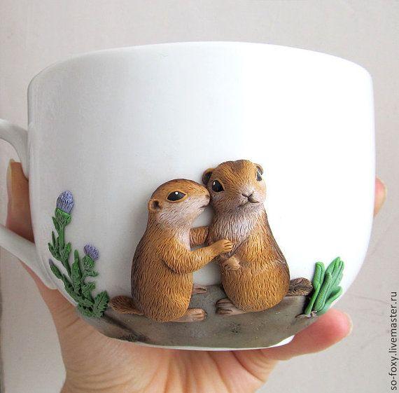 Tuzas de lindo mug taza del regalo original amor por sofoxyclay