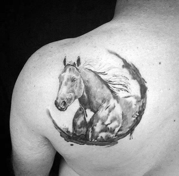 Guys Horse Tattoo Designs Horse Tattoo Design Horse Tattoo Horse Shoe Tattoo
