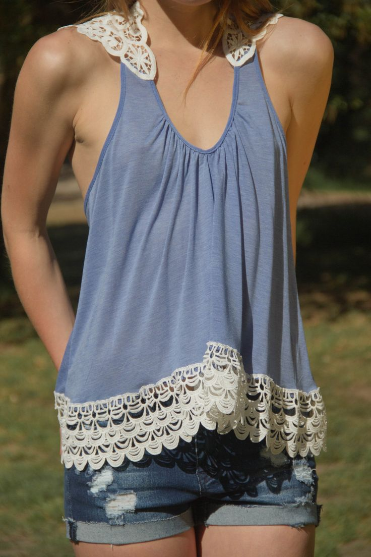 Verona V Crochet Tank Top (2 colors available) from Gypsy Outfitters -  Boho Luxe Boutique