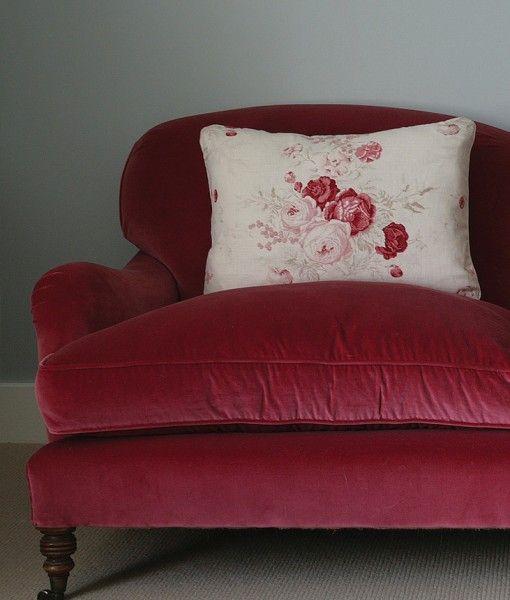 tienda online telas & papel   Terciopelo rojo shabby chic