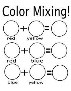mixing colors worksheet preschool google search - Color Activity