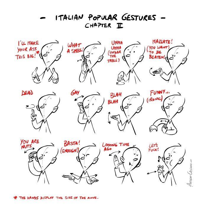 Italian popular gestures: gli italiani si esprimono così...