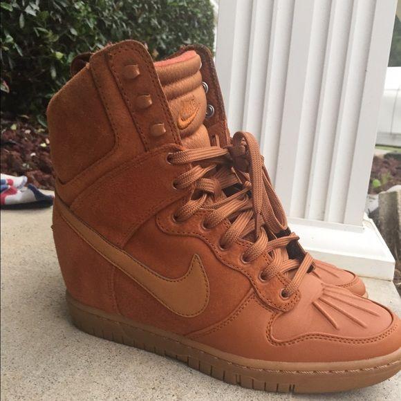 Nike Brown Suede Wedges Brown Suede Nike Wedge Sneakers Nike Shoes Sneakers