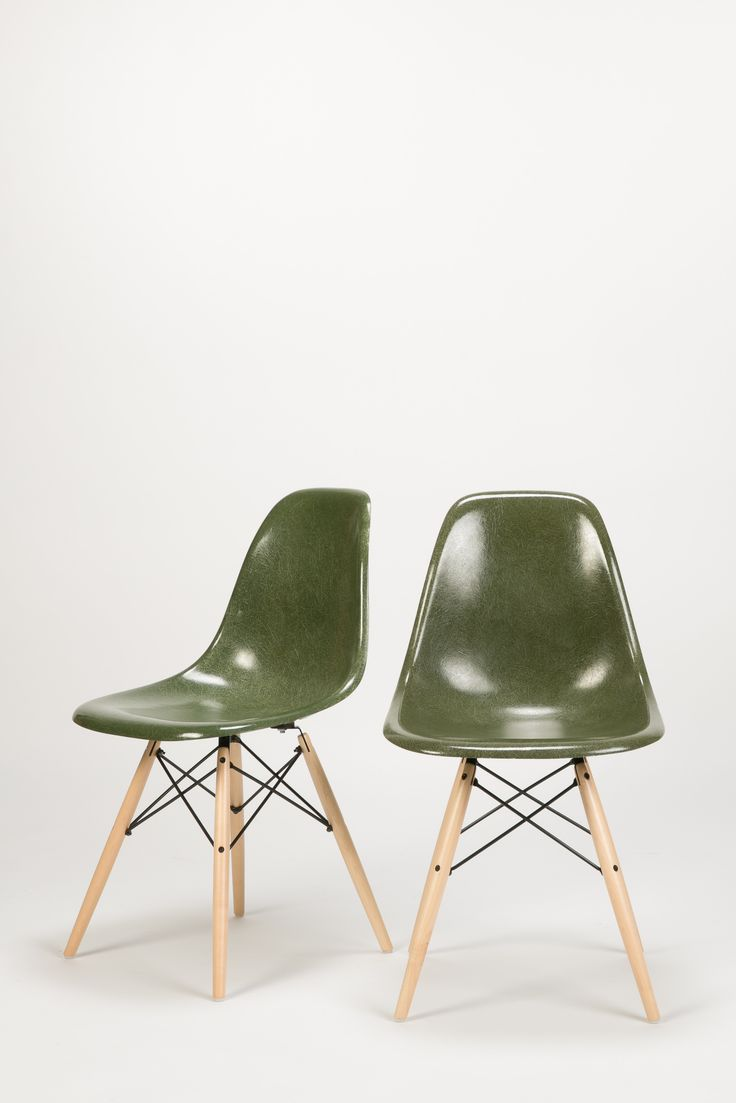 Olive 8 Eames Herman Miller Birch Dowel Charles and Ray Eames Vitra | okayart.com