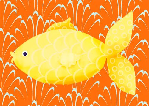 Lenny the Fish by Oopsy daisy www.sweetretreatkids.com #sweetretreatkids #beachart #beachprint #oceanart #oceanprint #fishprint #fishwallart #kidswallart #wallart