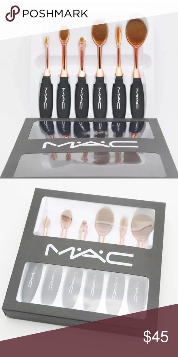 Brushes Mac Sold on Ⓜ️erc 6 peace Oval foundation mascara brush set Makeup Concealer