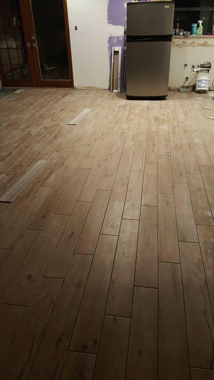 New Wood Look Tike Flooring Using American Olean Woodstory Oak 6x36 Porcelain Tile Planks From Lowes Flooring Lowes Wood Porcelain Wood Tile
