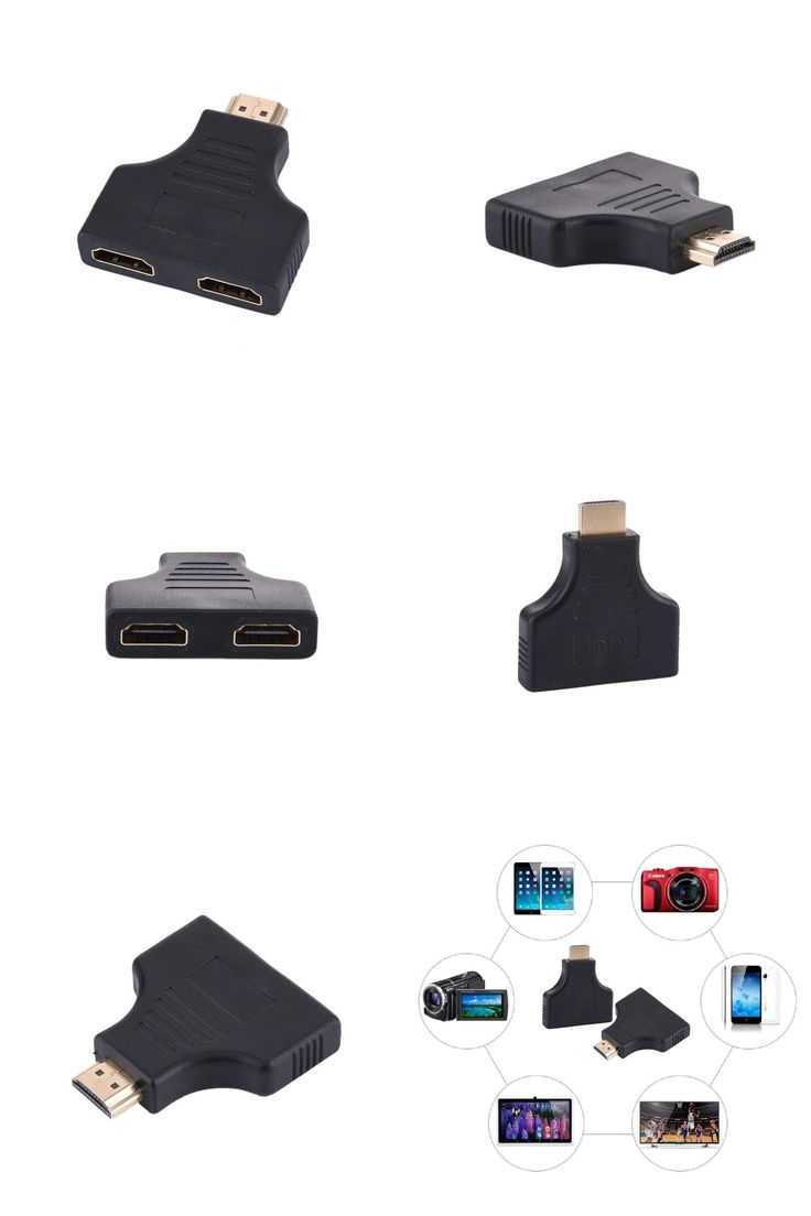 [Visit to Buy] High Quality 1080P 1 in 2 HDMI Splitter Male to 2 Female Onversion Head Adapter HDMI  Male to Female Adapter 1pcs #Advertisement