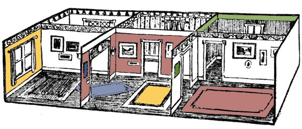 How to make a box apartment for Miss Paper Doll (1911)