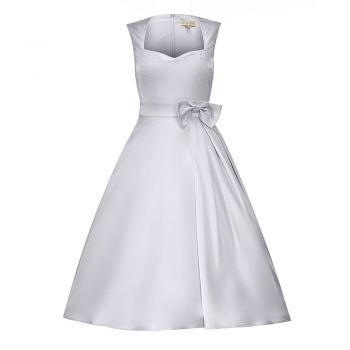 Gracie May Grey Occasion Dress | Vintage Style Dresses - Lindy Bop