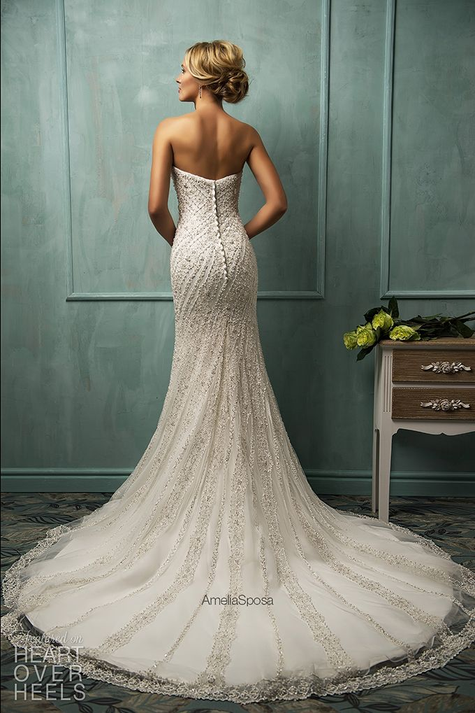Amelia Sposa 2014 Wedding Dresses  Heart Over Heels {back of this dress is amazing looking, front's not too bad either- looks sparkly! ;)}