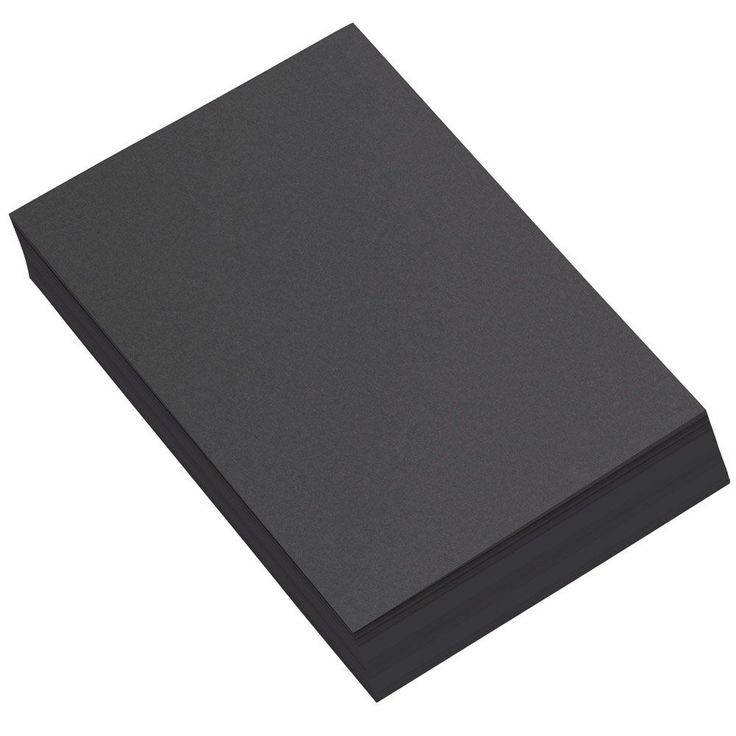 A4 Black Card 50 Sheets - High Quality Arts & Crafts - Heavyweight Paper