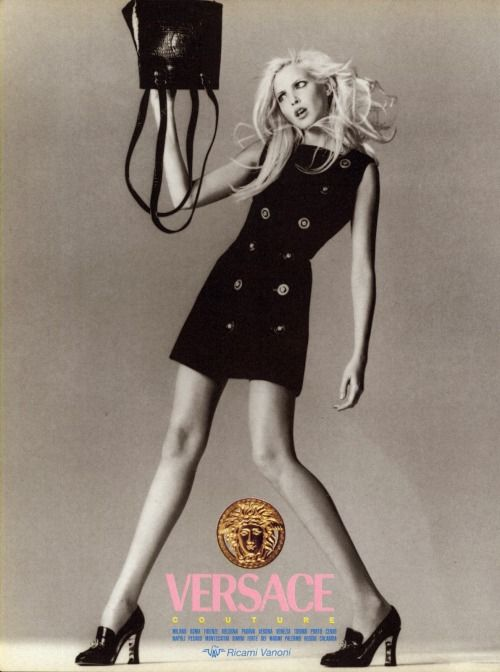 highqualityfashion:  Nadja Auermann by Richard Avedon for Versace 1994 Ad