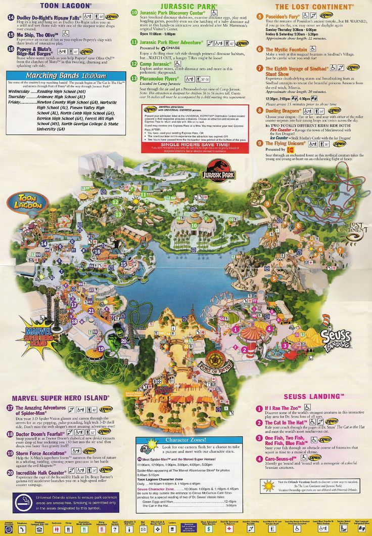 Universal Studios Orlando map of area | Universal Studios Guide Map.