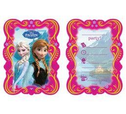 Frozen uitnodigingen - 6 stuks