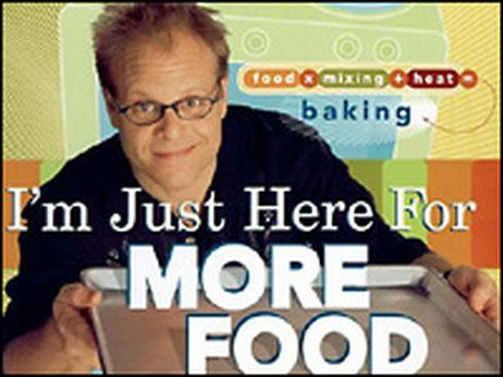Chocolate Pound Cake.  Detail from the cover of Alton Brown's 'I'm Just Here For More Food.'