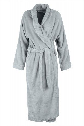 Rug yourself up in comfort with this Microfiber bathrobe. It features plush cozy fabric, cuffed long sleeves, a self-tie belt, and two patch pockets. This 100% Polyester robe is machine washable & available in 2 beautiful colours: pink  and charcoal