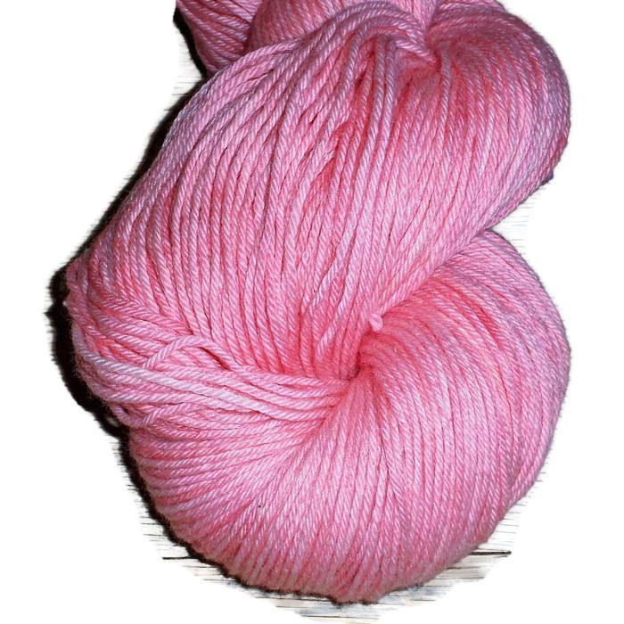Rose Cotton Merino Fingering Yarn - Hand Dyed Yarn - Pink Fingering Cotton Merino Yarn - Pink Rose Sock Weight Yarn EU SELLER