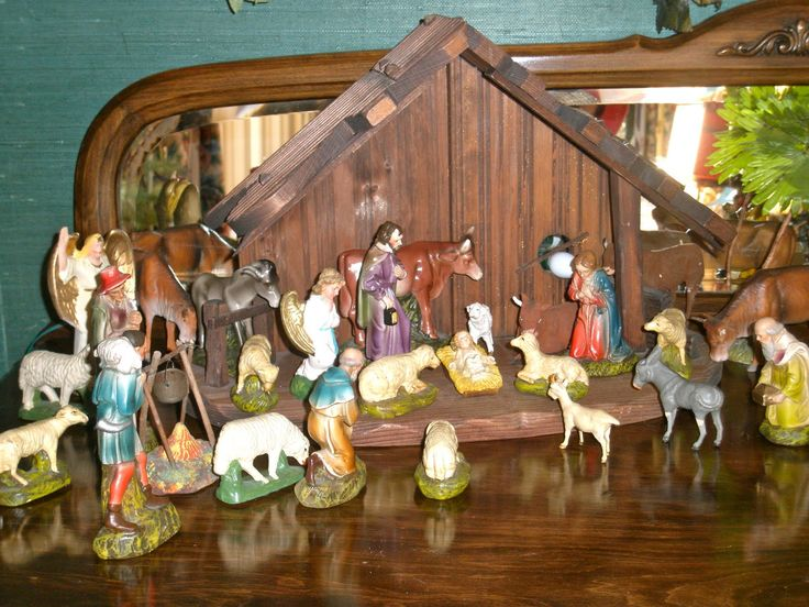 80 best Vintage Nativity Scene images on Pinterest   Christmas ...