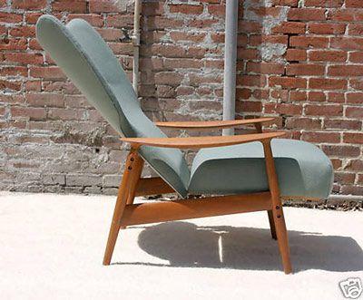Danish Modern Recliner Lounge Chair