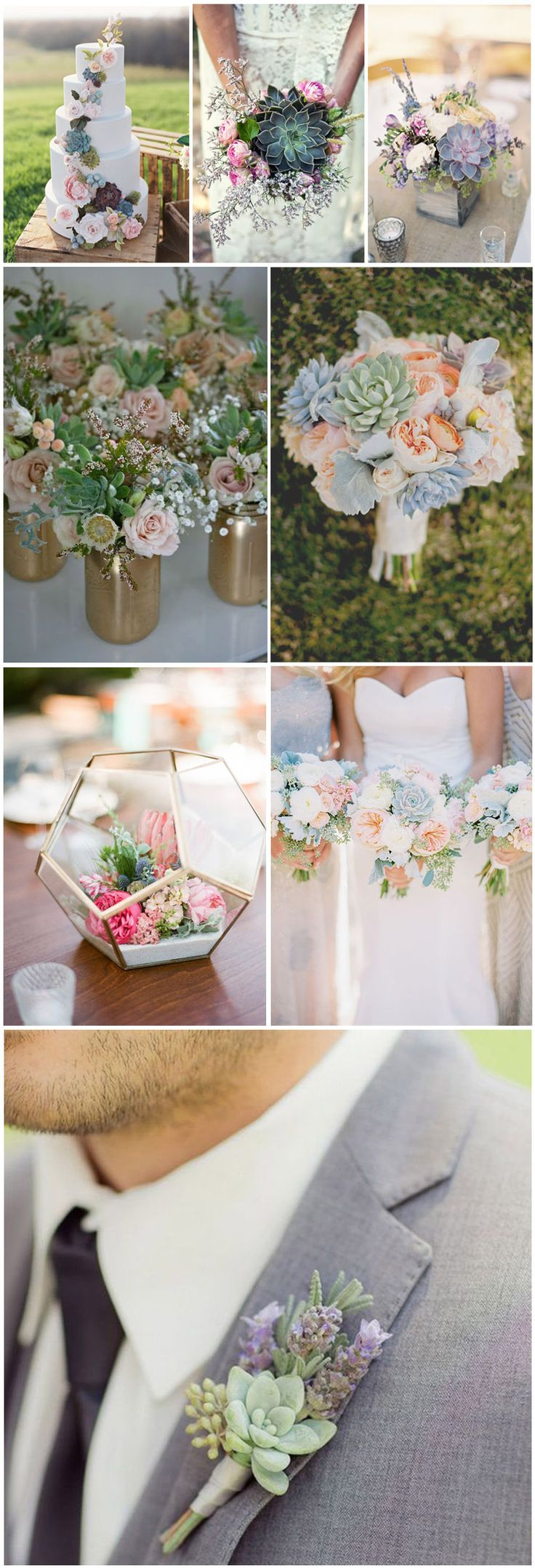 Wedding Flowers » Succulent»    Top 10 Flowers Themed Wedding for Outdoor Ceremony » ❤️ See more:    http://www.weddinginclude.com/2017/06/flowers-themed-wedding-for-outdoor-ceremony/