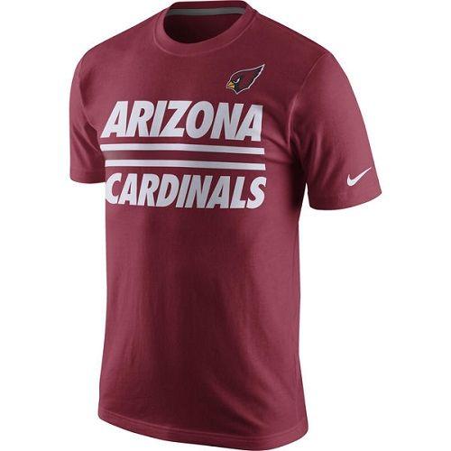 NFL Arizona Cardinals Nike Team Stripe T-Shirt - Cardinal