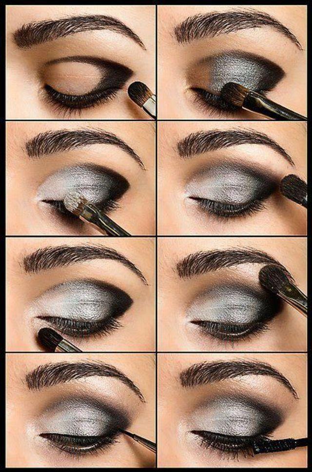 Idée de maquillage en gris