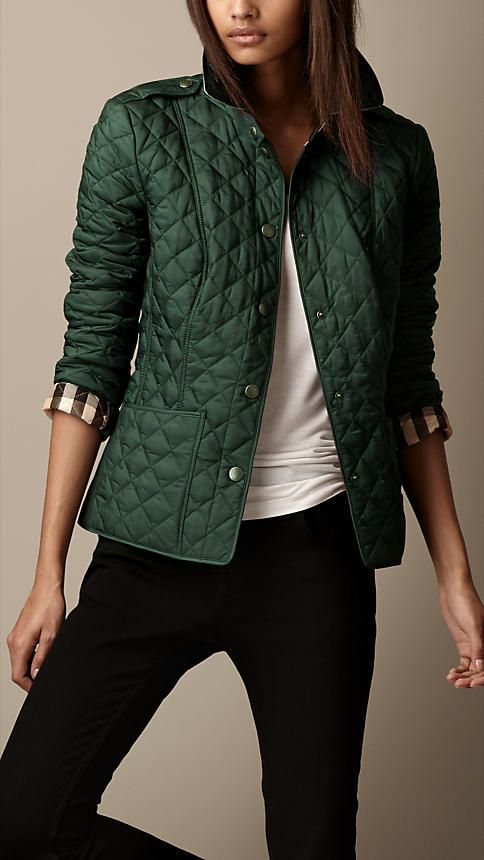 Love. This. Jacket! Heritage Quilted Jacket | Burberry