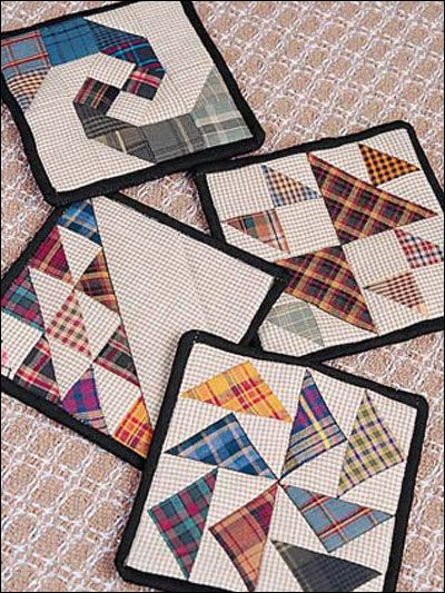 Quilting - Home Decor - Table Topper Quilt Patterns - Those Old Animals Coaster Set - #FQ00511