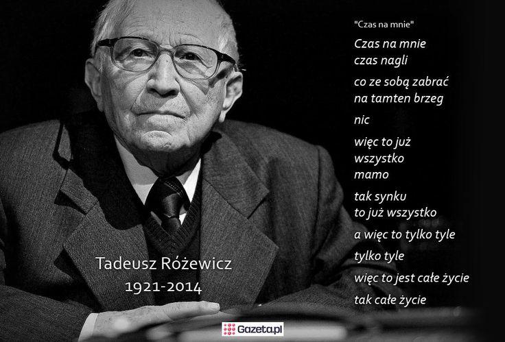 Tadeusz Różewicz - wszyscy to powiemy...