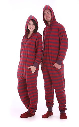 Adult Onesie Pajama Set One Piece Non Footed Pajamas Play Suit for Men or Women | eBay $40.95