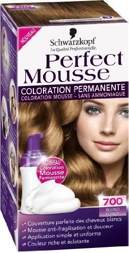 coloration schwarzkopf perfect mousse N°700 blond fonce neuf