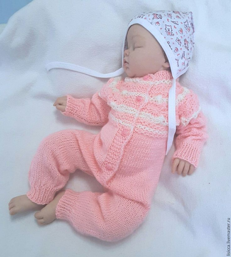 Купить Комбинезон Розовая сказка - бледно-розовый, комбинезон, комбинезон для малыша, комбинезон детский, на выписку