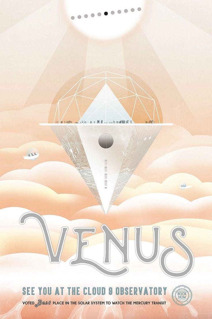 NASA venus poster Bilim Kurgudan Retro-Fütüristik Pazarlamaya Seyahat - NASA'nın retro-fütüristik posterleri, Philip K. Dick ve Jules Verne romanlarının eski kapaklarını anımsatırken içerik pazarlama ve reklamcılık açısından da oldukça ilham verici. #poster #blog #içerik #içerikpazarlama #content #marketing #reklamcılık #nasa #poster
