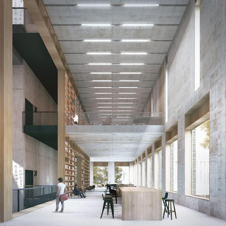 Musée d'art et bibliothèque de Longhua, Shenzhen, 2015 – Mecanoo # 60Holiday Projects #Adventure #archi …