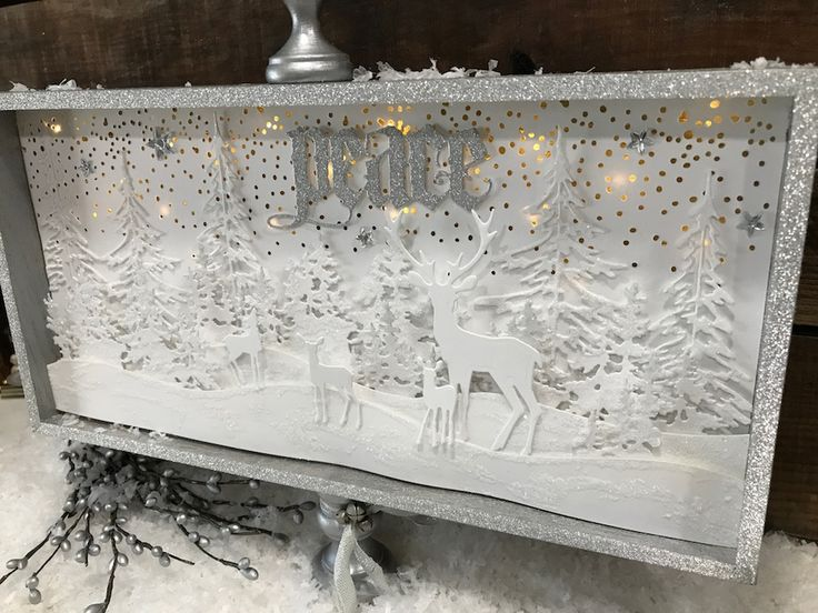 A Tim Holtz Winter Wonderland by Richele Christensen.  A how-to for creating this lighted winter scene.