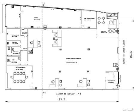 GRANOLLERS, BARCELONA.  DISPONIBLE EN VENTA O ALQUILER  Local Comercial ubicado en C/ Llevant, 2, el centro de la ciudad, cerca del barrio de Font. Zona de uso residencial y servicios, al lado de la Dirección General de la Seguridad Social.  SUP. TOTAL: 439 m2  SUP. BAJA: 439 m2  FACHADA PPAL: 15,37 m  FACHADA SECUNDARIA: 24,90 m. + info: info@fomenti.com