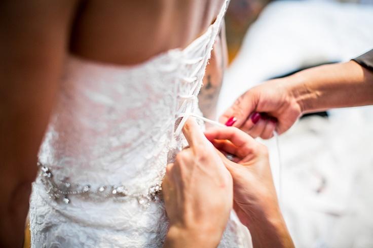 Dichtmaken bruidsjurk, bruiloft Miami , trouwjurk