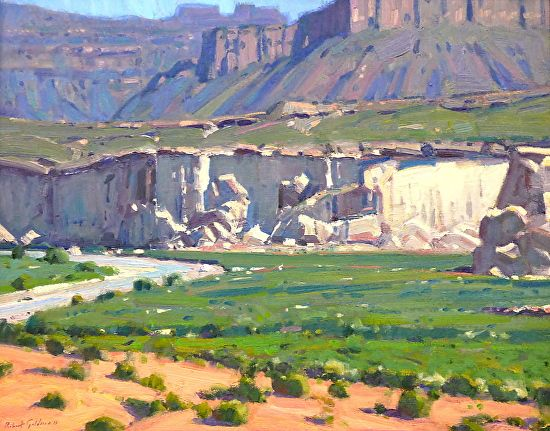 BoldBrush Painting Competition Winner - July 2015 | WHITE CLIFFS OF GLEN CANYON by Robert Goldman