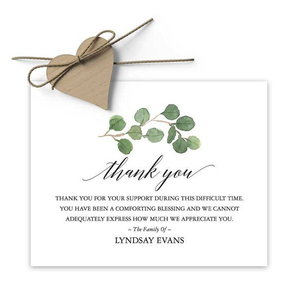 Sympathy Thank You Card Printable For Funerals Funeral Thank You Cards Sympathy Thank You Cards Funeral Thank You