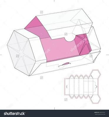 Hasil gambar untuk slanted rectangle package dieline
