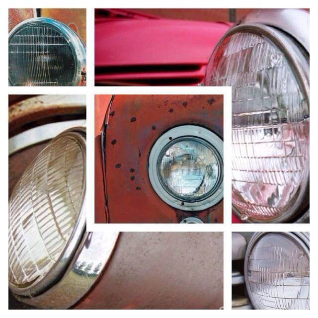 Collage of headlights