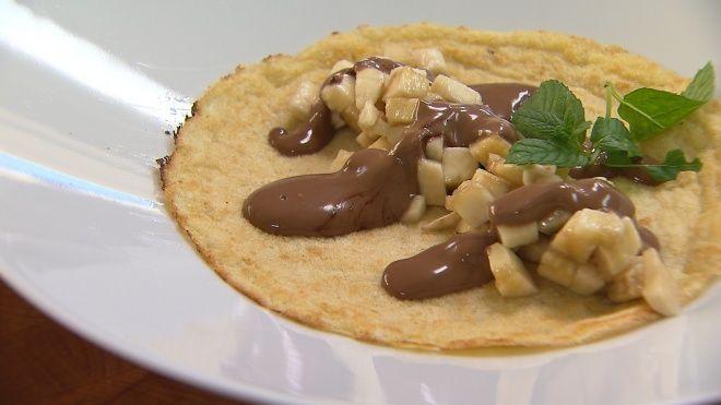 Pannenkoeken met banaan en chocolade | VIER