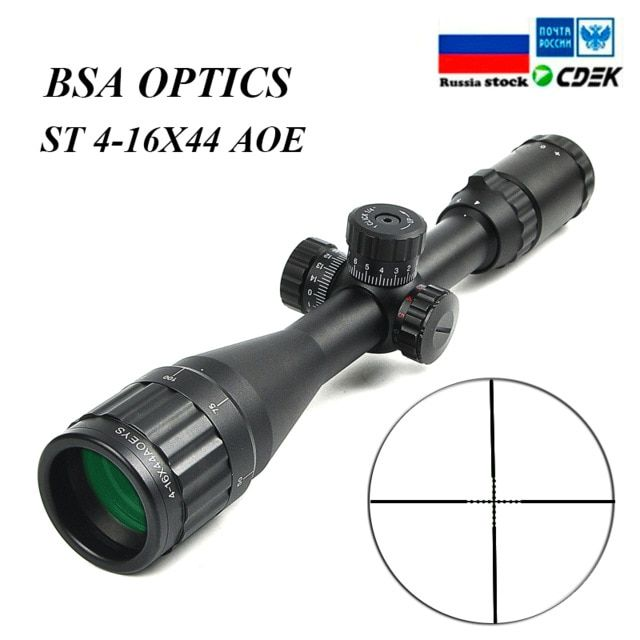 BSA OPTICS ST Tactical Optic Rifle Air Sight Illuminated Riflescope 4-16x44