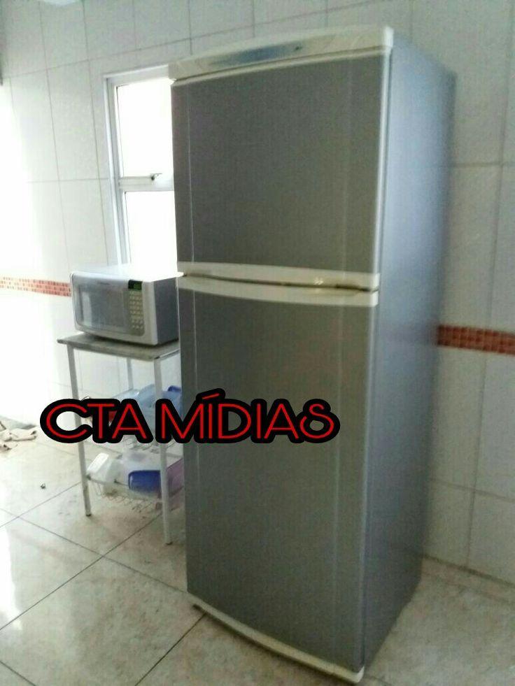 Envelopamento personalizado em geladeira duplex e microondas , tipo inox !